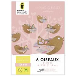 6 oiseaux à assembler par Pirouette et cacahouète