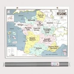 Carte murale France Régions par Emile en ville
