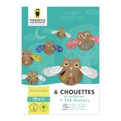 6 chouettes à assembler par Pirouette et cacahouète