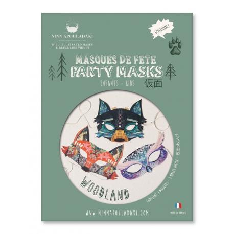 3 masques woodland par Ninn Apouladaki
