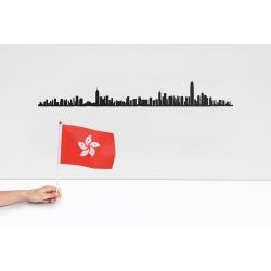 "Silhouette murale ""hong Kong "" par the Line"