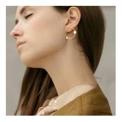 Boucles d'oreilles cosmos par Anne Thomas