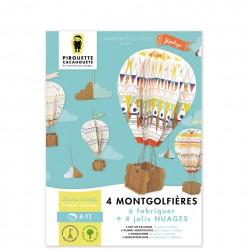 montgolfière à assembler par Pirouette et cacahouète