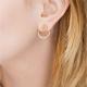 Boucles d'oreilles L'Heure bleue par les Partisanes