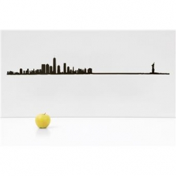 "Silhouette murale ""New York "" Grand Modèle par the line"