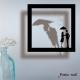 """Stickers cadre ombre """" Pluie d'amour"""" par Poétic Wall"""