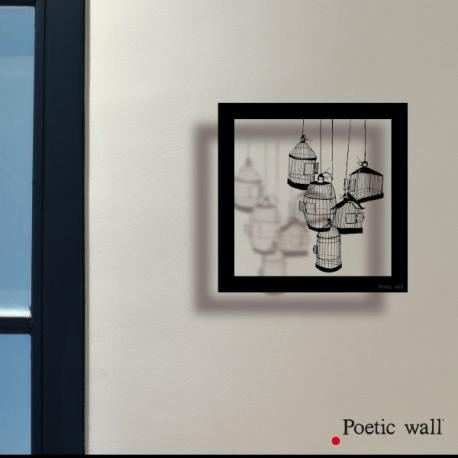 """Stickers cadre ombre """" Les cages"""" par Poétic Wall"""