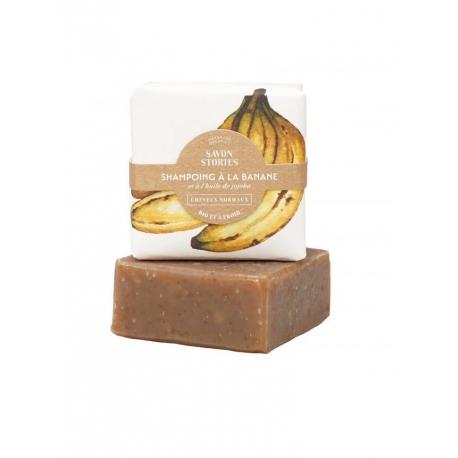 Shampoing à la banane et huile de jojoba par Savons stories