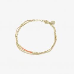 Bracelet  Ethel Multi tangerine par Judith Bénita