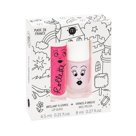 Coffret 1 vernis pailleté et 1 rollette par Nailmatic