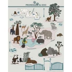 Affiche Promenade au zoo par les Jolies Planches