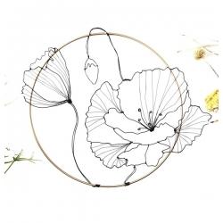 Cercle mural Coquelicot  par O Fil des Rêveries