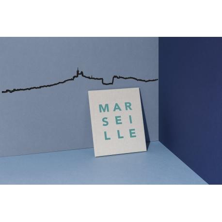 """Silhouette murale """"Marseille"""" par the Line"""