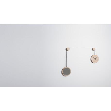 """""""Pendule"""" horloge/miroir par Drugeot Labo"""