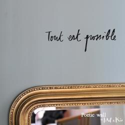"""Stickers """"Tout est possible"""" par Poetic Wall"""