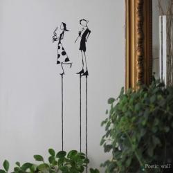 """Stickers """"l'amour en équilibre 1"""" par Poetic Wall"""