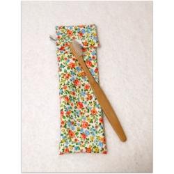 Pochette à brosse à dents fleurs par La Bobine Verte