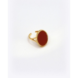 Bague Frida agathe rouge par Nilaï Paris