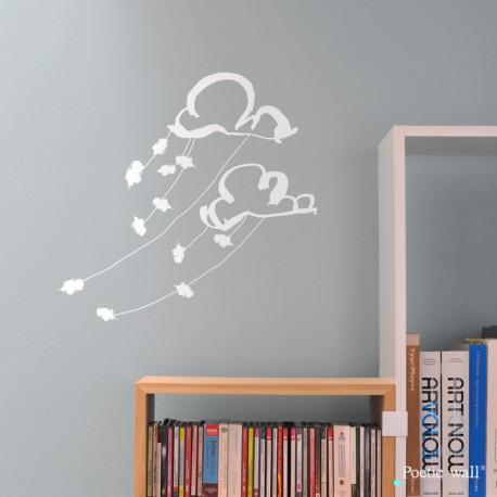 """Stickers """"Dans les nuages"""" par Poetic Wall"""