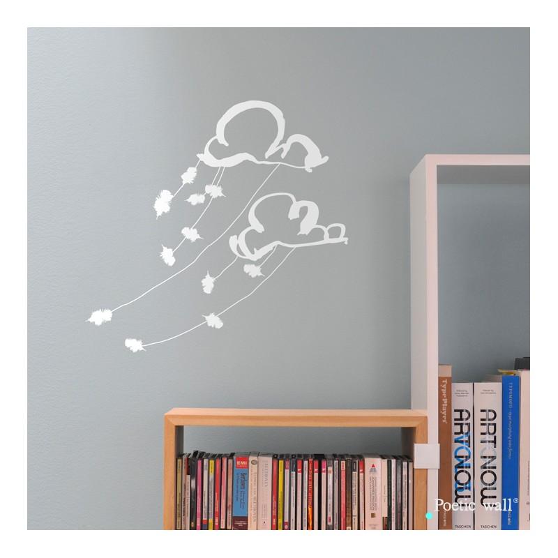 stickers dans les nuages par poetic wall le cent 9 nancy. Black Bedroom Furniture Sets. Home Design Ideas