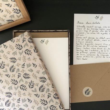 Coffret papier à lettres Mimosa par Monsieur papier