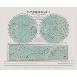 Planisphère celeste par les Jolies Planches