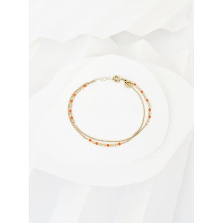 Bracelet  Molto multi tangerine par Judith Bénita
