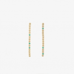 Boucles d'oreilles Molto L menthe par Judith Bénita