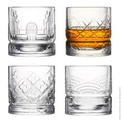Coffret 4 gobelets whisky par La Rochère