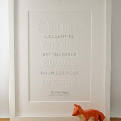 Affiche Le Petit Prince par Atelier Letter Press