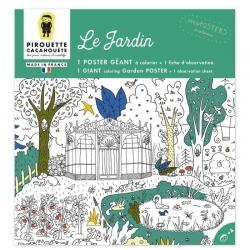 Poster à colorier  géant Le jardin par Pirouette et Cacahouète