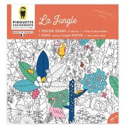 Poster à colorier  géant Le Jungle par Pirouette et Cacahouète